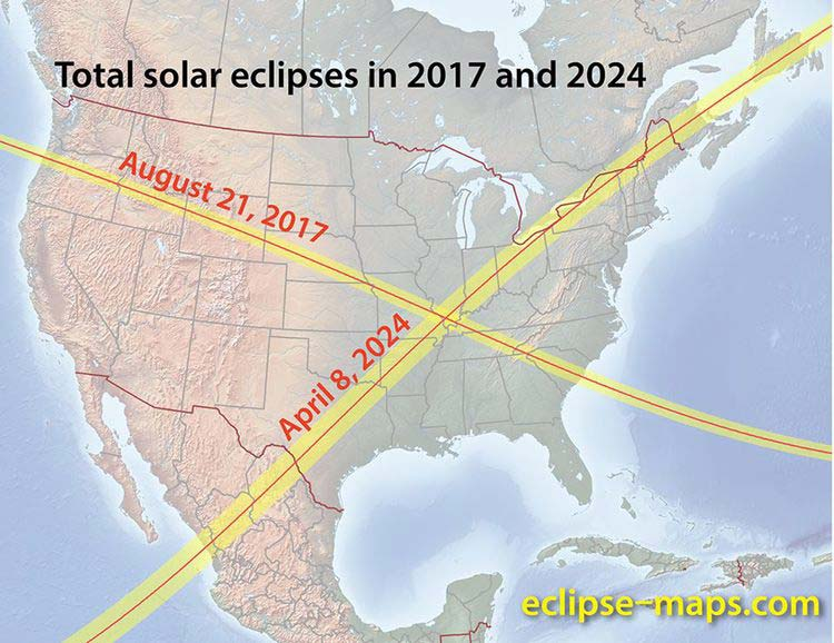 Map of Carbondale Eclipse